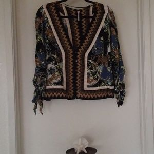 Free people oversized top.